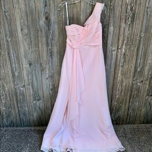 David's Bridal Blush Pink Bridesmaids Dress